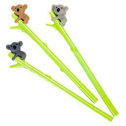 Koala Plastic Australia - Cartoon Pen Cute Koala Bear Gel Ink Plastic Pen with 0.5mm Roller ball Pens Pack of 3