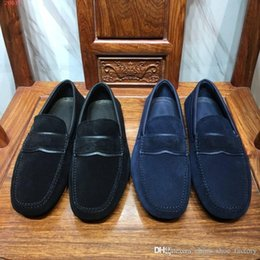 soles shoe slip resistant NZ - Brand shoes Imported fabric Original wear resistant non-slip sole Comfortable breathe freely men's business casual shoes