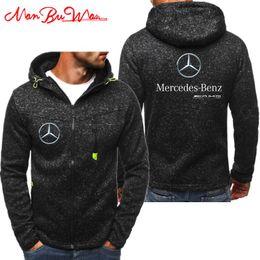 2019 Nuevo Mercedes Benz Amg Sudaderas Con Capucha Hombres Moda Personalidad Cremallera Sudadera Con Capucha Masculina Chándal Hip Hop Otoño Invierno Sudadera Con Capucha (4) en venta