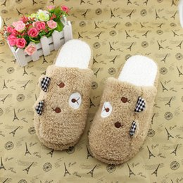 slippers bear NZ - 2018 New Fashion Women Shoes Lovely Bear Home Floor Soft Cotton-padded Slippers Winter Female Indoor Slippers sapato feminino @P