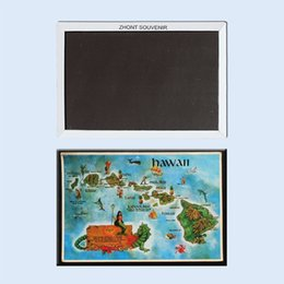 maps decorative UK - Decorative Fridge Magnets Hawaii Map Souvenir For Store 22220 Vintage Image Fridge Magnets