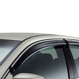 window car parts UK - Automovil Decoration Parts Styling Anti Car Rain Window Visor Awnings Shelters FOR Peugeot 2008 3008 301 308 308S 4008 408 5008