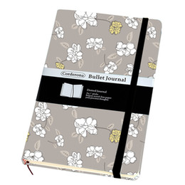 $enCountryForm.capitalKeyWord Australia - Flowers Dot Grid Hard Cover A5 PU Bullet Notebook Elastic Band Travel Dotted Journal Bujo Support Customize