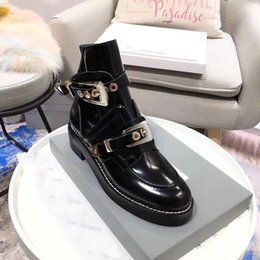 $enCountryForm.capitalKeyWord NZ - Hot Sale-Hollow out locomotive boots ladies cowhide trim Pearl Martin boots woman summer English wind boot lacquer heels
