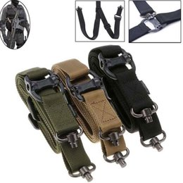 Wholesale 1Pc Training Belt Ajustable Tactical Nylon Belts Straps Sling for Tactical Outdoor Training Hiking Camping Hunting