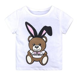 $enCountryForm.capitalKeyWord NZ - Summer Baby Boys Designer Tops Shirt Cartoon Bear Print Cotton Girls Tops Tees T Shirt for Kids Children Outwear Clothes Tops 1-6 Year