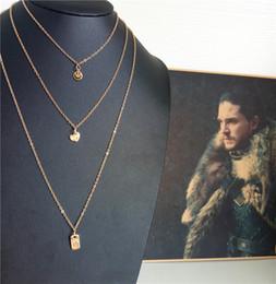 Rose Pendant Jewellery Australia - cecmic high quality cord fashion necklace geometric pendant layered long jewelry necklace jewellery fashion style gold chain
