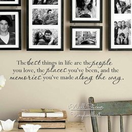 Best Bedroom Wall Stickers NZ - The Best Things In Life Quote Wall Sticker, Family Quote Wall Decal, Family Quote Wall Sticker, Vinyl Decor Home Decoration Q215