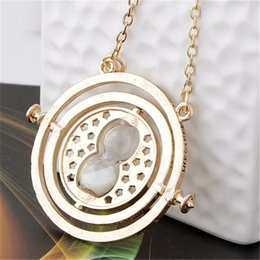 Necklaces Pendants Australia - Hot Sell Harry Time Turner Potter Necklace Hourglass Vintage Pendant Hermione Granger Gold Silver Necklace for Women Lady Girl WCW095