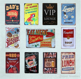 $enCountryForm.capitalKeyWord NZ - BBQ Wall Art Poster Drink Beer And Eat Burger Tin Plate Bar Cocktail Lounge Seaside Bakery Vintage Home Decor Metal Signs