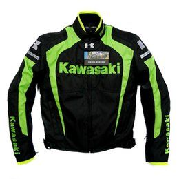 moto gp kawasaki 2019 - New Men's Spring Autumn Professional Moto jackets Team Green Motorcycle Jacket For kawasaki Moto GP Racing Jacket c