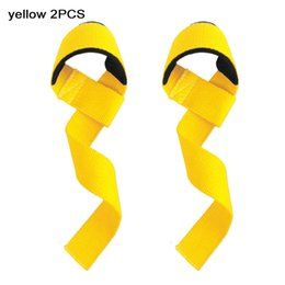 $enCountryForm.capitalKeyWord Australia - 2PCS Weightlifting Hand Pad Wrist Wraps Straps Gloves for Women Gym Support Lifting Grip Belt Training Fitness Weight 57*3.8cm