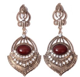 $enCountryForm.capitalKeyWord Australia - 2019 new shelves in Europe and America exaggerated court retro exaggerated big earrings Super long exaggerated nightclub earrings metal gems