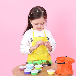 $enCountryForm.capitalKeyWord Australia - 8 Colors Fabric Pockets Kid's Children's Aprons for the Kitchen Cooking Baking Classroom Arts Crafts Painting Keep Clean Bibs