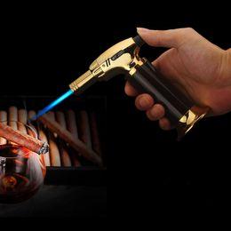 Großhandel Torch Turbo Feuerzeug 2019 New Spritzpistole Jet-Butan Zigarettenanzünder Gas-Zigaretten-1300 C-windundurchlässiges Feuerzeug kein Gas