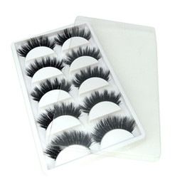 hand made products Australia - 5 pairs packaging mink false eyelashes 100% real mink fur creat your brand Low price FDshine product
