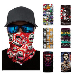 $enCountryForm.capitalKeyWord Australia - Cycling Motorcycle Tube Scarf Warmer Face Mask Ski Balaclava Multifunctional Headwear Headband Mask Scary Half Face Shield DHL Free Shipping