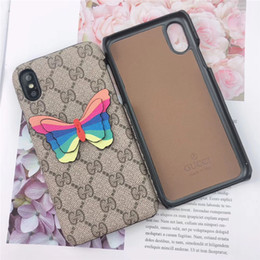 p painting Australia - Wholesale luxury phone case fashion For iPhone 6S 7 8 P X XS Paint and butterfly Designer phone back cover For gifts