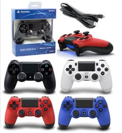 Sony Ps4 Wireless Controller NZ - HOT PS4 Wireless Bluetooth Game Gamepad SHOCK4 4 Color Controller Playstation For Sony PS4 Controller with retail box DHL FREE