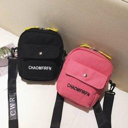 $enCountryForm.capitalKeyWord Australia - Women School Bag Cool Letter Printed Ladies Canvas Bag Fashion Small Children Zipper Messenger Bags