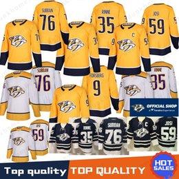 3518dc408 76 P.K. Subban Nashville Predators Jerseys 9 Filip Forsberg Hockey Jerseys  35 Pekka Rinne 92 Ryan Johansen 59 Roman Josi 100% Stitched