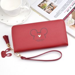 Peach Dress Clutch Bag Australia - Wallet ladies long wallet new Japanese and Korean fashion mobile phone bag large-capacity change tassel zipper clutch bag female
