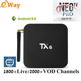Android Tv Box Neo Australia - IPTV M3u France IPTV Subscription NEO PRO H.265 IPTV Arabic Belgium Netherlands for TX6 Android 9.0 TV box IP TV NEOTV