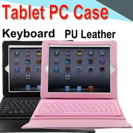 $enCountryForm.capitalKeyWord Australia - Keyboard Tablet Case PU Leather 10inch Wireless Bluetooth Flip Case Stand Cover Waterproof Shockproof Anti-Dust for iPad 5   Air 50 Packs