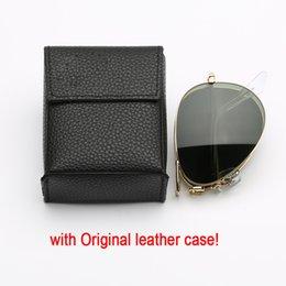 c71ec713e050 Make glasses case online shopping - designer sunglasses pilot folding model  UV400 glass made lenses des