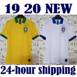 405c00785d0 2019 2020 player version Brazil soccer jersey home away Marcelo PELE OSCAR  D.COSTA DAVID LUIZ top quality football soccer shirt
