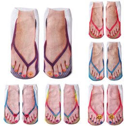 6919a3269e76 Unisex Men Women Funny Ankle Socks Cotton Slippers 3D Printed Foot Socks  Low Cut SOX