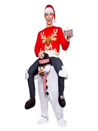 Ride Fancy Dress Australia - Carry Snowman Mascot Costume Ride on Costumes Adult Animal Funny Dress Up Fancy Pants Costume