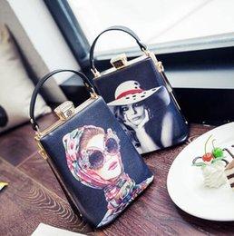 Fiber Fun Australia - Vintage Cartoon Character Pattern Box Pu Leather Shoulder Bag Ladies Casual Tote Handbag Women Crossbody Messenger Bag Purse Fun