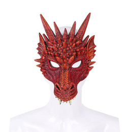 Chinese  Cospty Free Shipping Halloween Carnival Party New Design Decoration Adults And Kids 3D Soft Pu Foam Costume Dragon Mask manufacturers