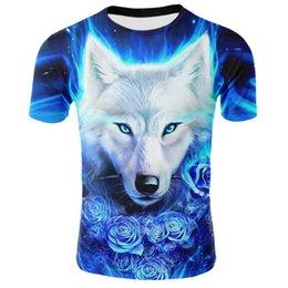 2019 Newest Wolf 3D Print Animal Cool Funny T-Shirt Men Short Sleeve Summer Tops Tees Fashion t shirt size XXS-4XL Free Shipping