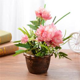 $enCountryForm.capitalKeyWord Australia - 2019 peony flowers creative ornaments fashion household items artificial silk flower simulation plants with pot