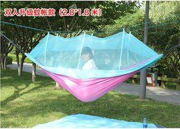 Cloth Nets Australia - Outdoor camping camping double swing hammock parachute cloth portable mosquito net dormitory single hammock free shipping