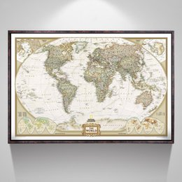 Thermal Supplies Australia - Vintage World Map Office Supplies Detailed Antique Poster Wall Chart Retro Paper Matte Kraft Paper 28*18inch Map Of World