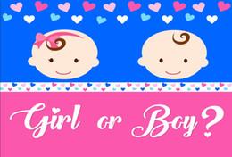 Love Backdrops UK - 7x5FT Love Heart Shape Girl Boy Gender Baby Shower Custom Photo Studio Background Backdrop Vinyl 220cm x 150cm