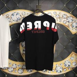 cbe5821a Cool t shirt logos online shopping - 19ss Box Logo Secret Hip Hop Patchwork  Shoulder Full