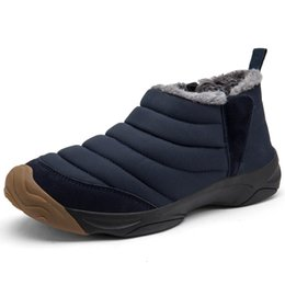$enCountryForm.capitalKeyWord UK - Unisex Men Boot Winter Snow Boots Keep Warm Waterproof Denim Canvas Boots Plush Ankle Snow Work Loafers Men's Snow Sneakers