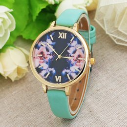 $enCountryForm.capitalKeyWord NZ - Creative jewelry thin belt flower ladies watch large dial fashion watch