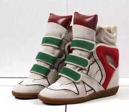 $enCountryForm.capitalKeyWord Australia - Genuine Leather Boots Women Height Increasing Casual Shoes Woman Brand Booties Hoop Loop High Heels Ankle Boots