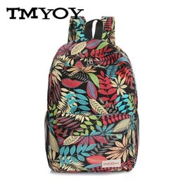 Fashion Prints Book Australia - Wholetide- Tmyoy Unisex Printing Casual Backpack Man And Women School Book Canvas Fashion Travel Bag For Teenager Girl Boy Students Vk225