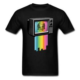 8d710e2f1edb Color Television 2018 Skull Cult Men T-shirt Vintage Black 80s TV Printed 3D  T Shirt Adult Cotton Clothing Summer Design