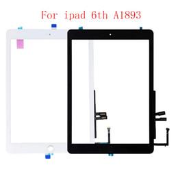 Venta al por mayor de 20pcs para el iPad 9.7 2018 versión IPAD 6 6ta GEN A1893 A1954 de la pantalla táctil de cristal con el botón Inicio