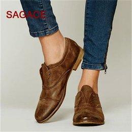 $enCountryForm.capitalKeyWord NZ - Designer Dress Shoes Vintage Women Single Round Toe Leather Booties Slip-On Square Heel Single