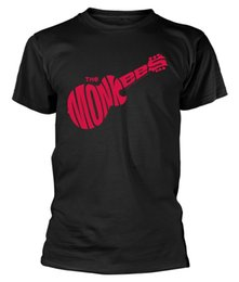 Yellow Color Guitar UK - The Monkees 'Guitar Logo (Black) T-Shirt - NEW & OFFICIAL!Men Women Unisex Fashion tshirt Free Shipping black