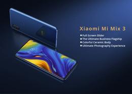 Venta al por mayor de Xiaomi Mi Mix 3 6,39 pulgadas 4G LTE teléfono inteligente Snapdragon 845 8GB 128GB 12.0MP + 12.0MP Cámaras traseras dobles MIUI 10 Cuerpo de cerámica NFC Carga inalámbrica