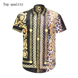 Double Shirt Designs Australia - 2019 fashion new design slim fit men casual business shirt summer beach short sleeve hip hop cheap men's tops shirts